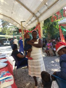 Christmas Party from Kay-O-Bois malnutrition program - women with child